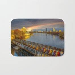 Graffiti bridge Bath Mat