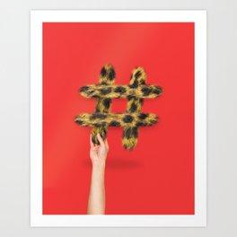 Cheetah the Hashtag Art Print
