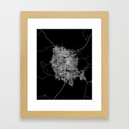 Las Vegas map Framed Art Print