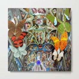 Butterfly in Cappella Sistina SistineChapel Metal Print