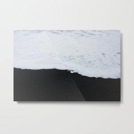 Black beach Metal Print