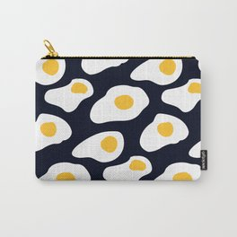 Eggs pattern on black Carry-All Pouch