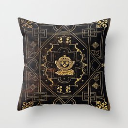 Leather and Gold Throw Pillow