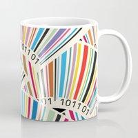 geek Mugs featuring Geek by Helene Michau