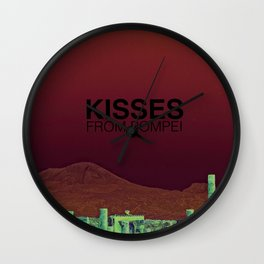 Kisses from Pompei Wall Clock