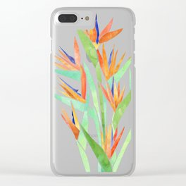 Birds of Paradise ~ tropical bouquet Clear iPhone Case