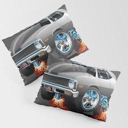 Classic American Muscle Car Hot Rod Cartoon Pillow Sham