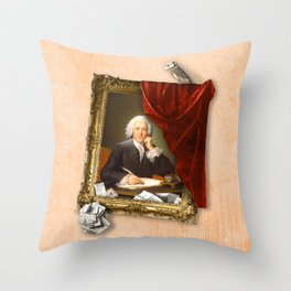 The Scribe's Secret Chamber Throw Pillow