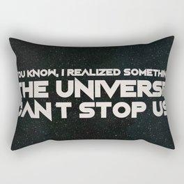 The Universe Can't Stop Us Rectangular Pillow