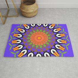 Tropical Toucan Mandala Design Rug