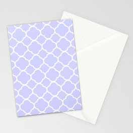Periwinkle Blue Quatrefoil Stationery Cards