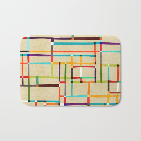 The map (after Mondrian) Bath Mat
