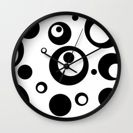 Circles Dots Bubbles :: White Salt Wall Clock