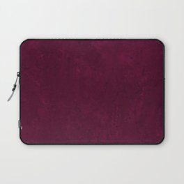 Hand painted modern abstract burgundy marble watercolor Laptop Sleeve