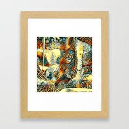 AnimalArt_OrangUtan_20170605_by_JAMColorsSpecial Framed Art Print