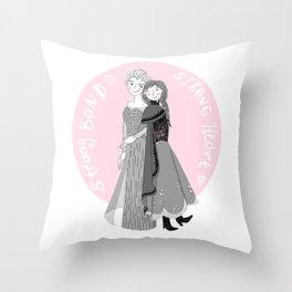 Strong Bond Strong Heart Throw Pillow