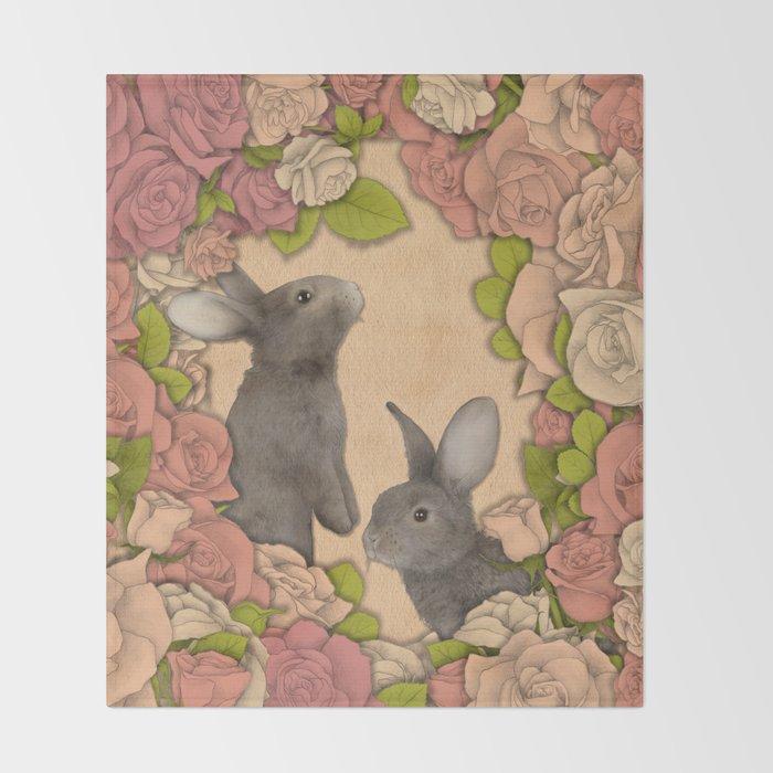 Rosie Rabbits Throw Blanket