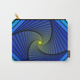 BLUE SPIRALS INTO YELLOW Carry-All Pouch