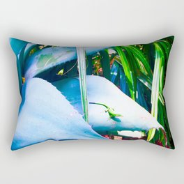 """""""AGAVE AND THE ANOLE"""" Rectangular Pillow"""