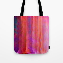Striped Watercolor Art vibrant Red and Pink Tote Bag