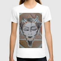 satan T-shirts featuring HA SATAN by Kathead Tarot/David Rivera