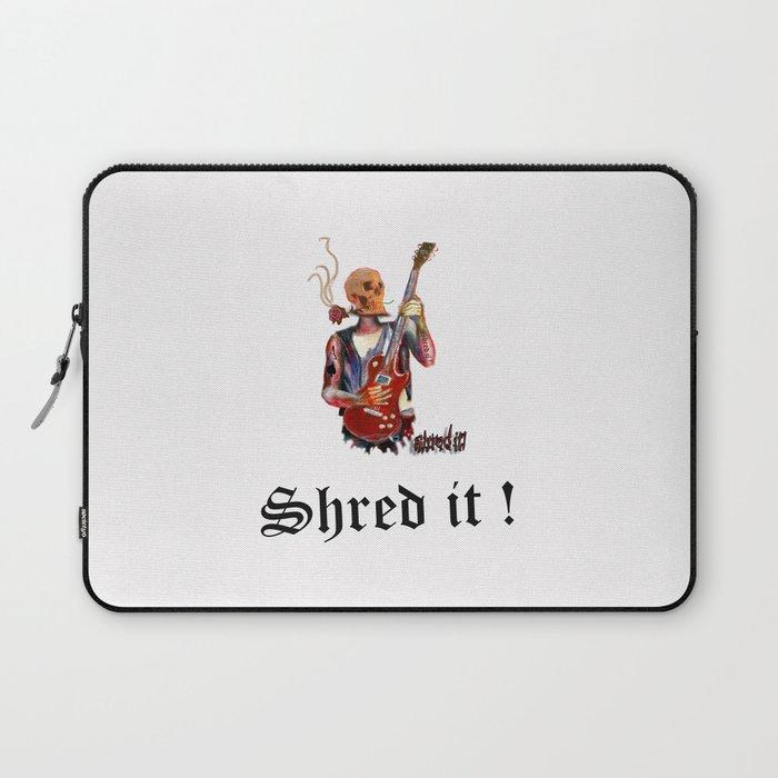 Shred it Skull guitar player  Laptop Sleeve