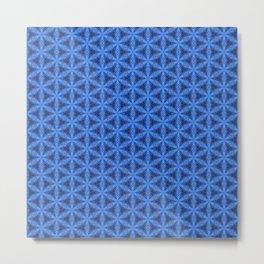 Blue Snake Scales Pattern Metal Print