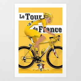 Tour De France cycling grand tour Art Print
