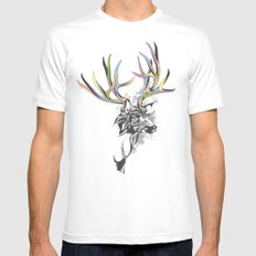 White-Tailed Deer Mens Fitted Tee White MEDIUM