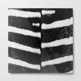 Zebra Stripes in Black and White #decor #society6 #buyart Metal Print