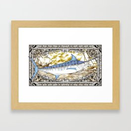 Blue Marlin Framed Art Print