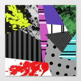 Pick A pattern II - geometric, textured, colourful, splatter, stripes, marble, polka dot, grid Canvas Print