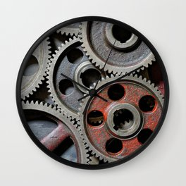 Group of old steel cogwheels Wall Clock