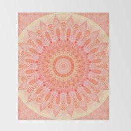 Mandala soft orange 2 Throw Blanket