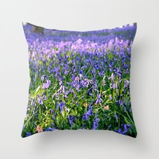 drowning in the bluebell sea Throw Pillow