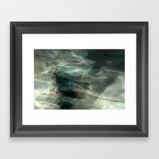 Abstracted waters Framed Art Print
