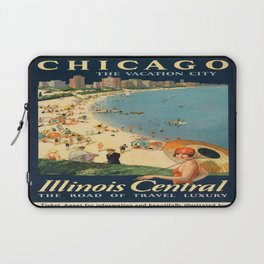 Vintage poster - Chicago Laptop Sleeve