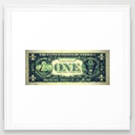 Pixel Dollar Framed Art Print