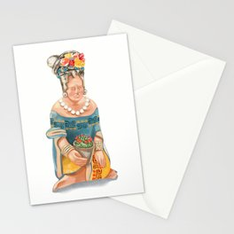 Mesoamerican Seated Woman Stationery Cards