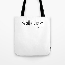 Salt & Light Scripture Bible Text Verses Christian Matthew 5 13 16 Reference Black Tote Bag