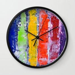 Same, LGBT rainbow abstract, NYC artist Wall Clock