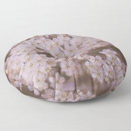 White Flowers Floor Pillow