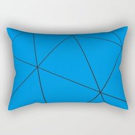 Blue low poly displaced surface with black lines Rectangular Pillow