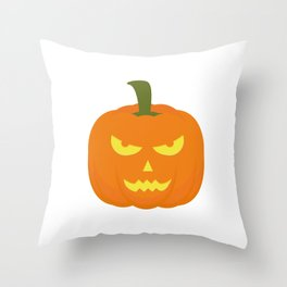 Evil light Halloween Pumpkin Throw Pillow