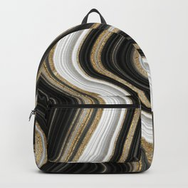Gold And Black Agate Gemstone Backpack