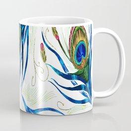 Bold Wispy Peacock Coffee Mug