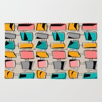 mid century modern Area & Throw Rugs featuring Mid-Century Modern Abstract #11 by Kippygirl