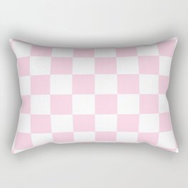 Pink, Baby: Checkered Pattern Rectangular Pillow