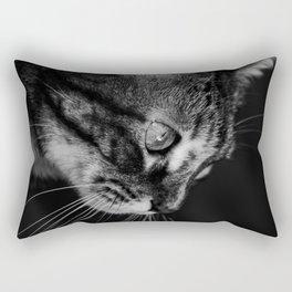 kitten in black and white Rectangular Pillow