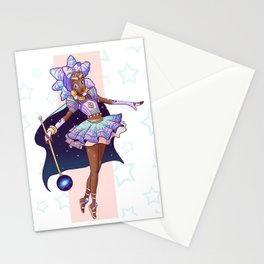 African Magical Girl Stationery Cards